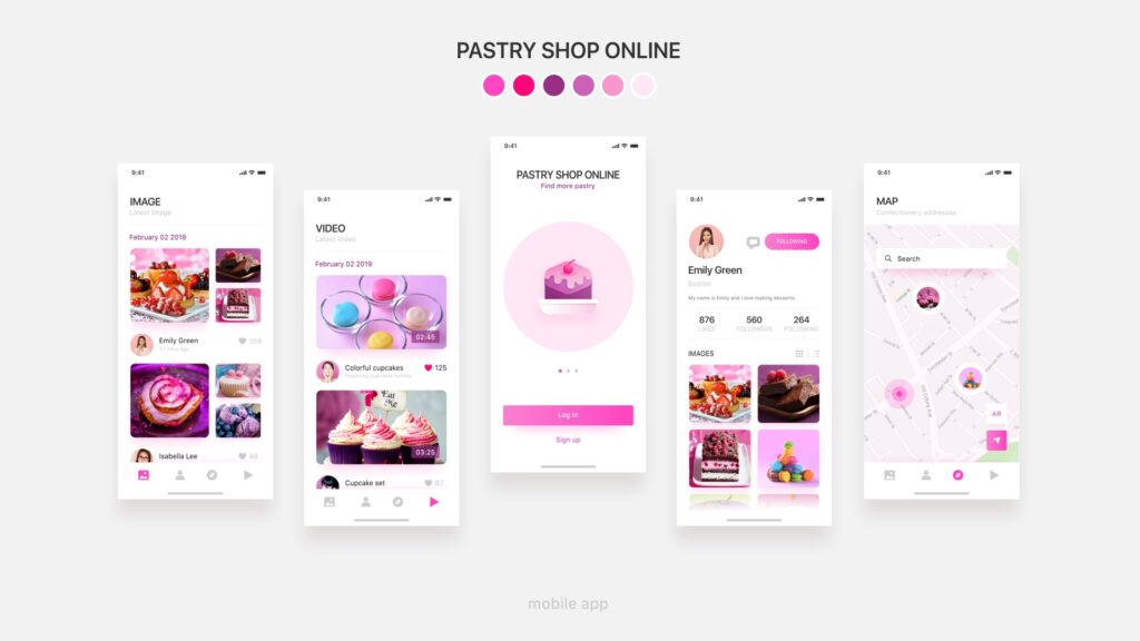 1. Pastry shop online